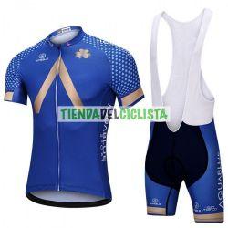 Equipación ciclismo Corta AQUA BLUE 2018 AZUL