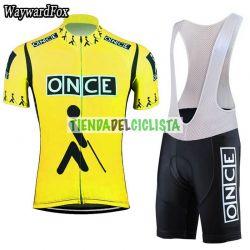 Equipación ciclismo ONCE amarillo