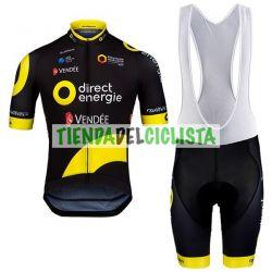 Equipación ciclismo Corta Direct Energie 2018